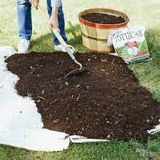 add compost to an established garden