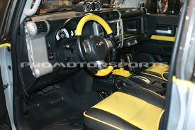promotorsports toyota fj cruiser with wheelskins leather steering wheel and shift boot