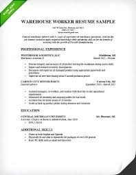 Simple Job Resume Outline Job Resume Samples Warehouse Resume Sample Job Resume Objectives