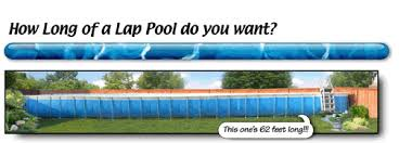 How long is a lap pool Inground American Made Ez Lap Pools 7 Wide Single Lane Portable Lap Pools