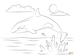 Small Picture Cute Killer Whale is Jumping Out Of Water coloring page Free