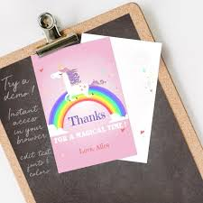 Free Downloads Thank You Cards Unicorn Thank You Card Unicorn Thank You Note Rainbow Thank Etsy
