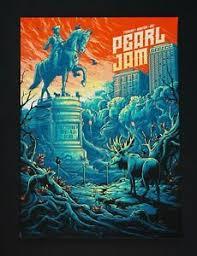 Details About Pearl Jam Dan Mumford Orange Sky Variant Fenway Park Boston Ap Poster Print