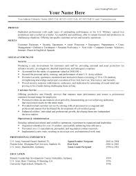 Example Military Resume Best Of Military Experience On Resume Example Great Military To Civilian