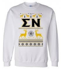 sigma nu ugly sweater crewneck sweatshirt 30 00 greek gear
