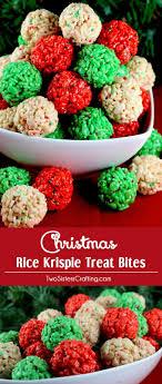 Christmas Rice Krispie Treat Bites. Christmas FoodsSchool Christmas  PartyChristmas ...