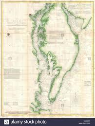 Chesapeake Bay Maps Charts 1855 U S Coast Survey Chart Or Map Of Chesapeake Bay And