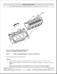 What is the head torque and sequence 04 tahoe with 4.8