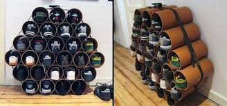 build a low cost shoe rack using pvc pipes