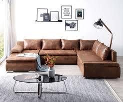 Couch Abilene Braun 330x230 Cm Ottomane Variabel