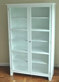 White glass door cabinet seeshiningstars scandinavian glass cabinet display  white stokkelandfo Gallery