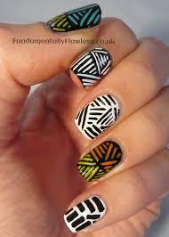 Tribal Print Nail Designs Mani Monday Tribal Nails Guest Post Blog Me Beautiful