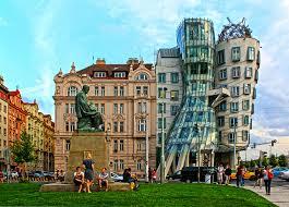 famous architecture buildings.  Architecture Decorating Dancing Building Prague Restaurant In Design 24 Famous  Architecture Buildings Around The World Throughout