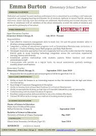 Resume Template 2017 Adorable Elementary School Teacher Resume Examples 28 Resume Downloadable