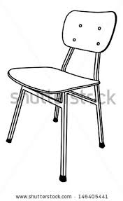 Brilliant School Chair Drawing Wooden Used In Inside Inspiration