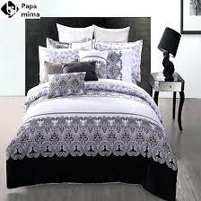 designer quilt covers australia luxury black and white bedding sets 4pcs 100 cotton duvet bed bedclothes