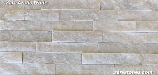 arctic white exterior wall stones sparkling white facing stones