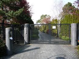 Stone Entry Gate Designs Outdoor Swg14 Custom Aluminum Gate Design Mounted On Round