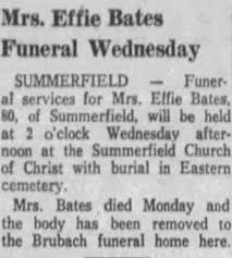 Obituary for Effie Bates (Aged 80) - Newspapers.com