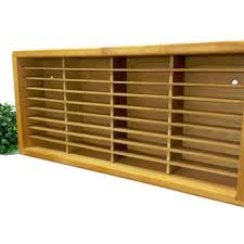 cassette tape holder wood display case cubby cabinet wooden co