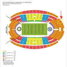 Nationals Tickets Seating Chart Singapore National Stadium Seating Chart Rows