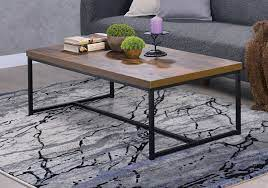 black metal frame coffee table