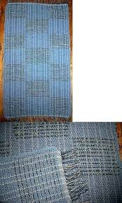 blue rag rug runner woven and braided rugs checkerboard handwoven