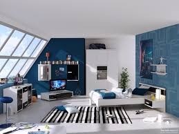 boys bedroom. Mesmerizing Modern Teenage Boys Bedroom With TV Set On Attic Room U