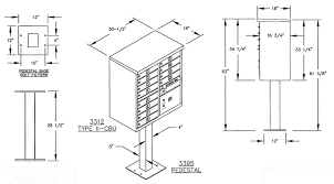 mailbox dimensions. Salsbury 12-Door CBU Mailbox Dimensions D