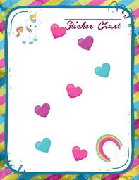 Rainbow Unicorn Themed Sticker Chart