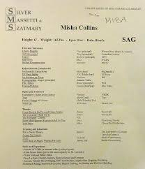 Best Misha Collins Old Resume Ideas - Simple resume Office .