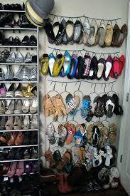 closet shoe rack ideas customized shoe hangers easy diy closet shoe rack