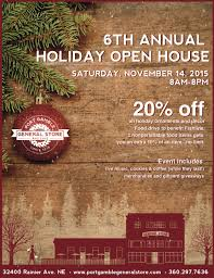 christmas open house flyer port gamble general store holiday open house visit poulsbo