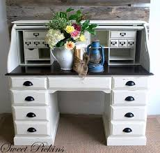 painted desk ideas best of diy maybe an option to redo my roll top desk white