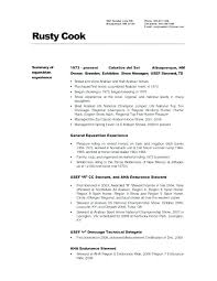 Chef Resume Samples Free