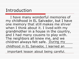 Childhood Memory Essay Under Fontanacountryinn Com