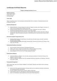 Landscaping Resume Sample Free Resumes Tips