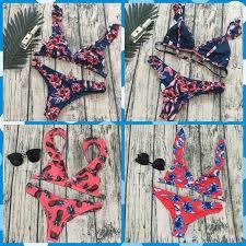 <b>2018 Bikini explosion</b> models in <b>Europe</b> and America bandage print ...