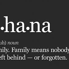 Ohana Means Family Quote Magnificent Ohana Means Family 48x48 Art Print Aftcra