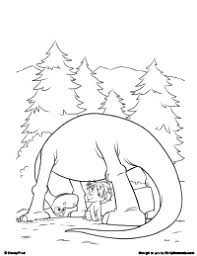 Small Picture Free Printable The Good Dinosaur Coloring Pages Earlymomentscom