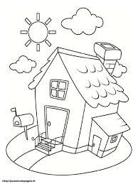 Coloriages De Maisons Coloriage Maison Enfant L