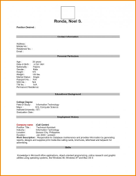 Resume Blank Form Download Blank Resume Form Template Business
