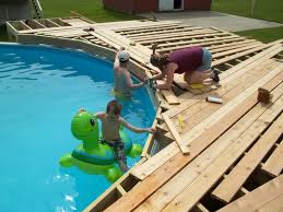 in ground pool deck plans.  Plans Multi Level Above Ground Pool Deck Design Plan Round  Throughout For In Plans L