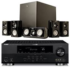 yamaha home theater speakers. yamaha rxv665bl home theater receiver bundle speakers