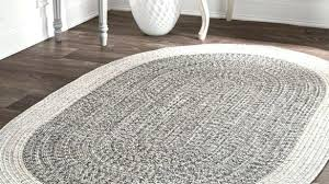 amusing oval rugs at contemporary hand braided solid border indoor outdoor grey nuloom rug round astounding