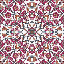 Gestileerde Bloemen Oosterse Behang Retro Naadloze Abstracte