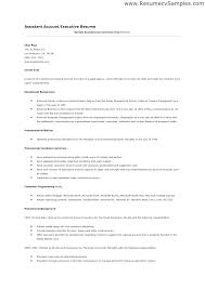Account Executive Resume Account Executive Resume Account Executive ...