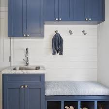 mud room sink. Simple Mud Blue Mudroom Cabinets With Built In Bench Shoe Cubbies On Mud Room Sink Decorpad