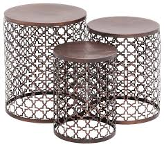 awesome side accent table the fl metal accent table set of 3 transitional side