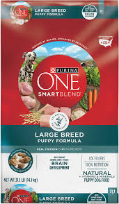 Purina One Large Breed Feeding Chart Purina One Smartblend Large Breed Puppy Formula Dry Dog Food 31 1 Lb Bag